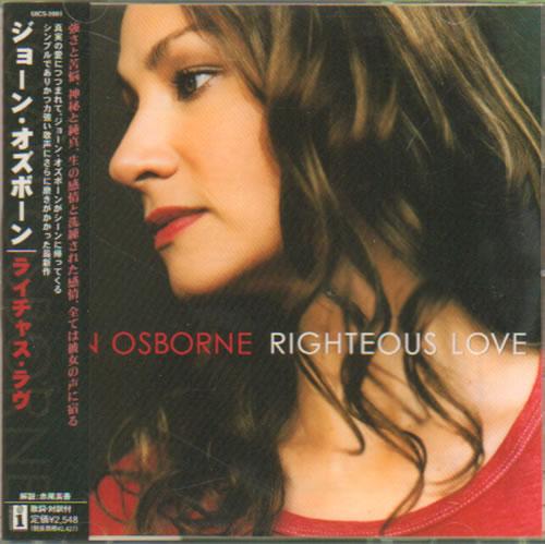 Joan Osborne Righteous Love CD album (CDLP) Japanese J-OCDRI640014
