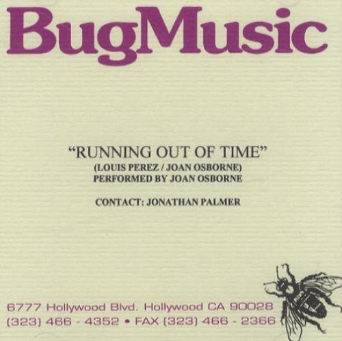Joan Osborne Running Out Of Time CD-R acetate US J-OCRRU167044