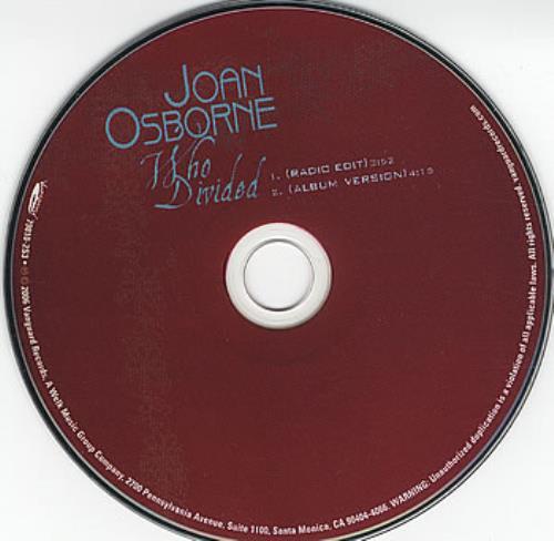 """Joan Osborne Who Divided CD single (CD5 / 5"""") US J-OC5WH379601"""