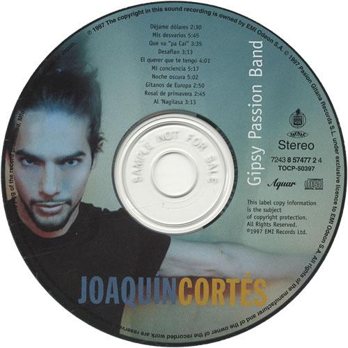 Joaquin Cortes Gipsy Passion Band CD album (CDLP) Japanese JJXCDGI445909