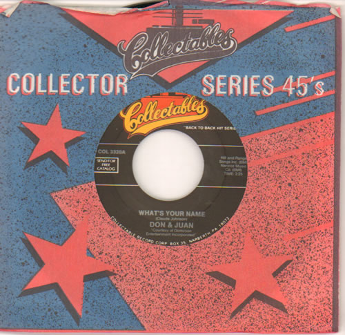 """Jodie Sands What's Your Name / With All My Heart 7"""" vinyl single (7 inch record) US KPD07WH641534"""
