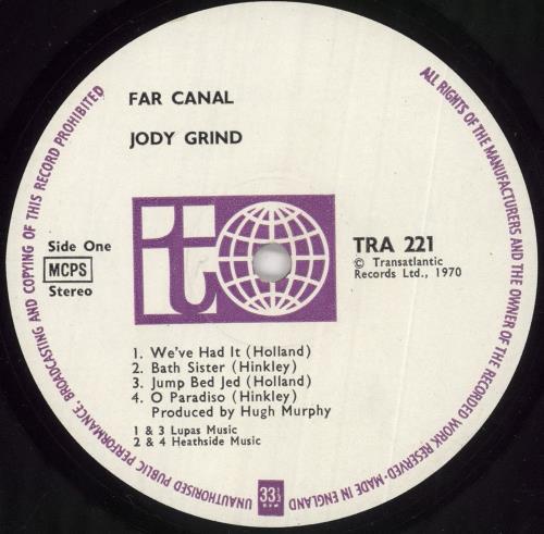 Jody Grind Far Canal vinyl LP album (LP record) UK JDGLPFA383204