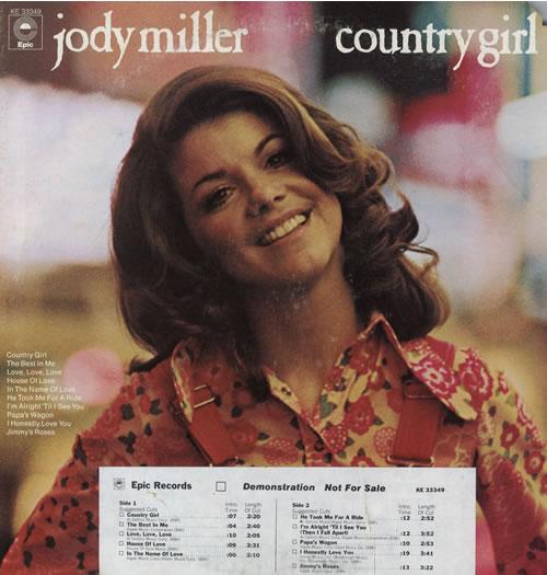 Jody Miller Country Girl vinyl LP album (LP record) US J0DLPCO560550