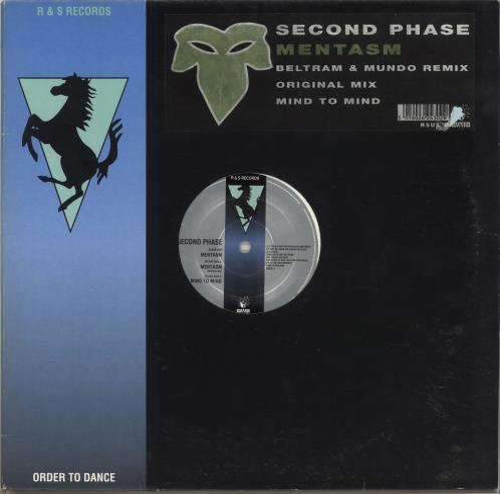 "Joey Beltram Mentasm 12"" vinyl single (12 inch record / Maxi-single) UK JBL12ME705562"