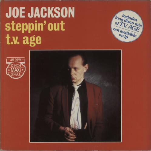 "Joe Jackson Steppin' Out / T.V. Age 12"" vinyl single (12 inch record / Maxi-single) Dutch JOJ12ST686067"