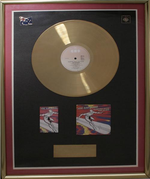 Joe Satriani Surfing With The Alien in-house award disc Australian JSTAISU549924