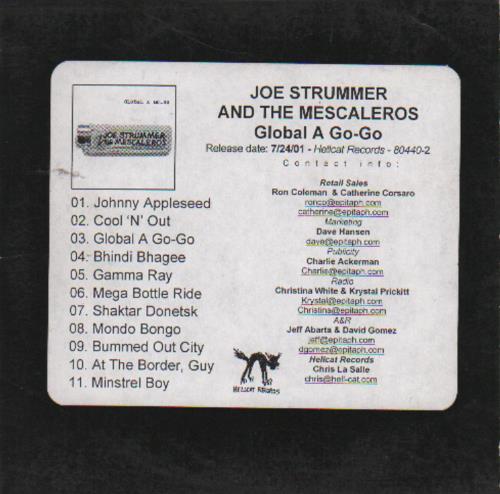 Joe Strummer Global A Go-Go CD-R acetate US JUMCRGL410199