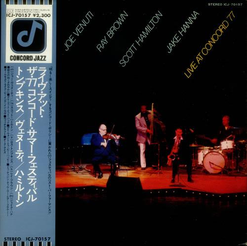 Joe Venuti Live At Concord '77 vinyl LP album (LP record) Japanese JB0LPLI549167