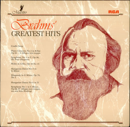 Johannes Brahms Brahms' Greatest Hits UK vinyl LP album (LP record