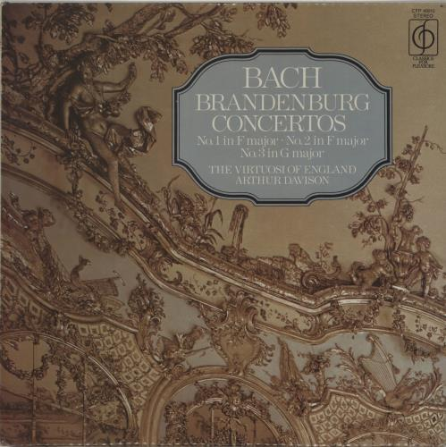 Johann Sebastian Bach Brandenburg Concertos Nos. 1, 2 & 3 vinyl LP album (LP record) UK JHHLPBR637455