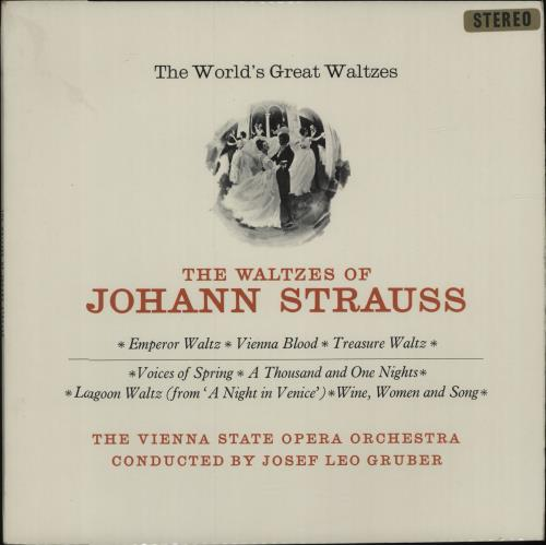 Johann Strauss II (1825-1899) The World's Great Waltzes - The Waltzes Of Johann Strauss vinyl LP album (LP record) UK J8ILPTH680310