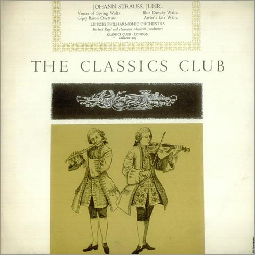 "Johann Strauss II (1825-1899) Voices of Spring, Blue Danube, Artist's Life & Gipsy Baron 10"" vinyl single (10"" record) UK J8I10VO540313"