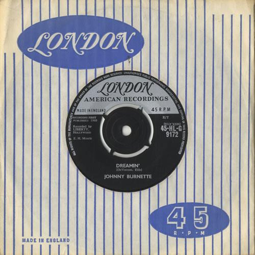 "Johnny Burnette Dreamin' 7"" vinyl single (7 inch record) UK 8JB07DR567824"