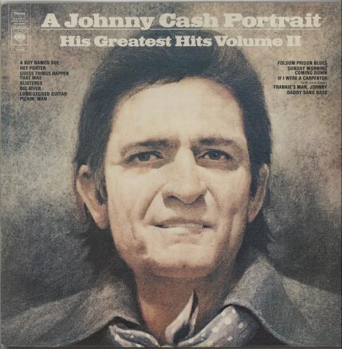 Johnny Cash A Johnny Cash Portrait: His Greatest Hits Volume II vinyl LP album (LP record) UK JCSLPAJ661958