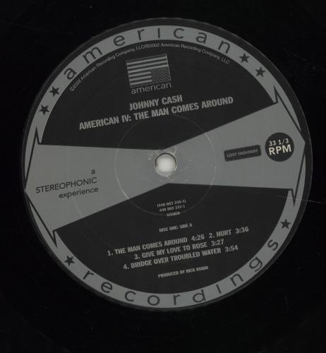Johnny Cash American IV: The Man Comes Around 2-LP vinyl record set (Double Album) US JCS2LAM525953