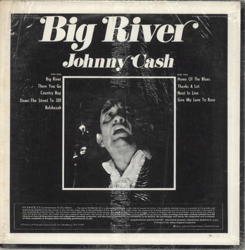 Johnny Cash Big River vinyl LP album (LP record) US JCSLPBI737910