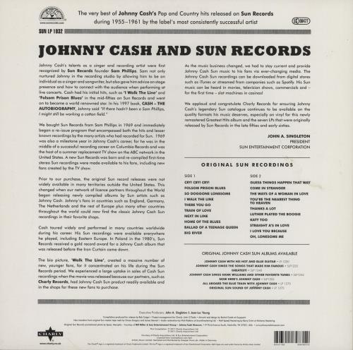 Johnny Cash Greatest Hits: The Sun Records Years - Half-Speed Mastered - EX vinyl LP album (LP record) UK JCSLPGR760048