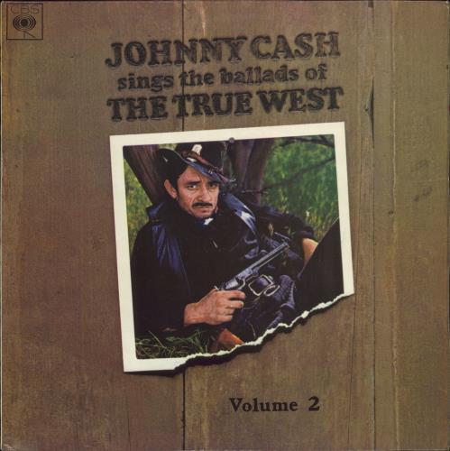 Johnny Cash Johnny Cash Sings The Ballads Of The True West Volume 2 vinyl LP album (LP record) UK JCSLPJO719270