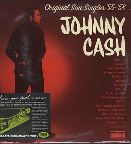 Johnny Cash Original Sun Singles '55 - '58 - Sealed 2-LP vinyl record set (Double Album) US JCS2LOR368539
