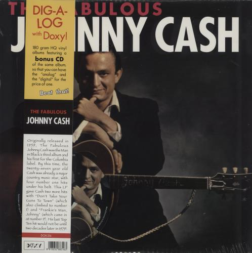 Johnny Cash The Fabulous Johnny Cash - 180gm vinyl + CD vinyl LP album (LP record) UK JCSLPTH760800