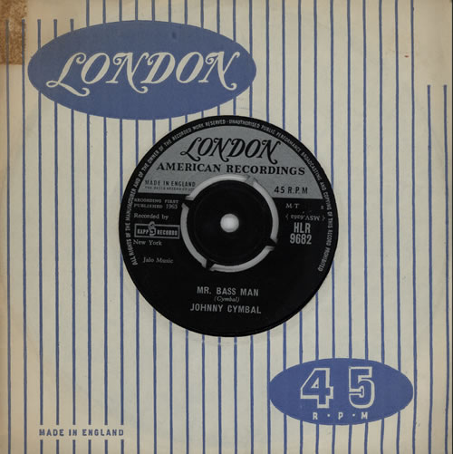 "Johnny Cymbal Mr. Bass Man 7"" vinyl single (7 inch record) UK CY407MR570688"