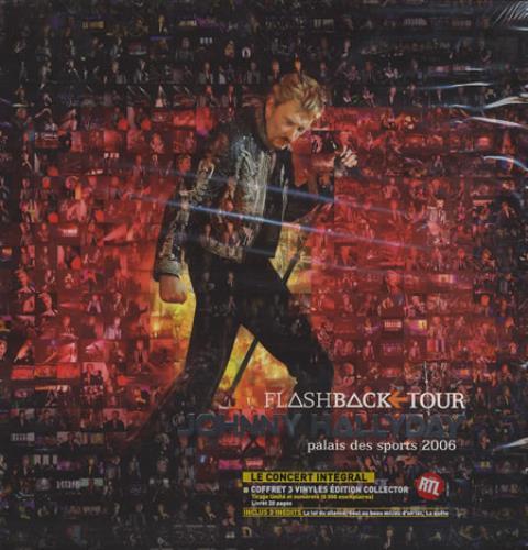 Johnny Hallyday Flashback Tour 3-LP vinyl record set (Triple Album) French JHD3LFL372363