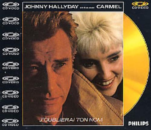 "Johnny Hallyday J'oublierai Ton Nom - Cdv CD single (CD5 / 5"") UK JHDC5JO93671"