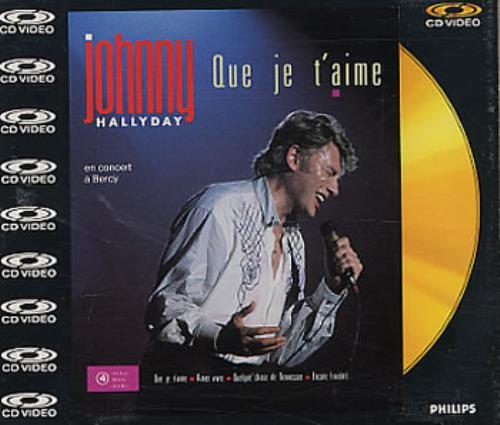 "Johnny Hallyday Que Je T'aime - CD-Video CD single (CD5 / 5"") UK JHDC5QU93670"