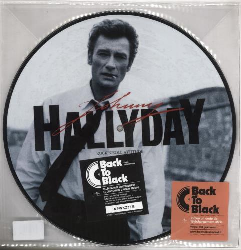 Johnny Hallyday Rock'N'Roll Attitude picture disc LP (vinyl picture disc album) French JHDPDRO739913