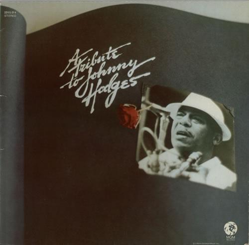 Johnny Hodges A Tribute To Johnny Hodges vinyl LP album (LP record) German JATLPAT600853