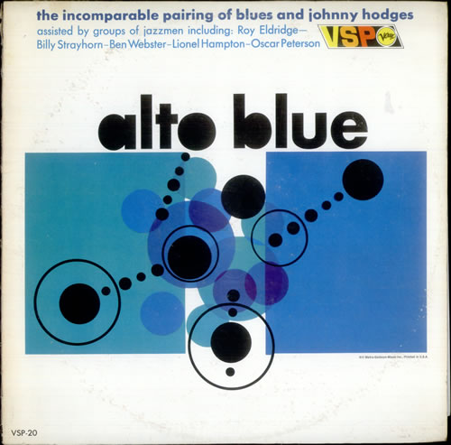 Johnny Hodges Alto Blue vinyl LP album (LP record) US JATLPAL533551