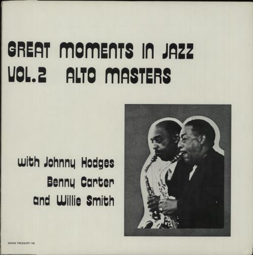 Johnny Hodges Great Moments in Jazz Vol.2: Alto Masters vinyl LP album (LP record) US JATLPGR670070