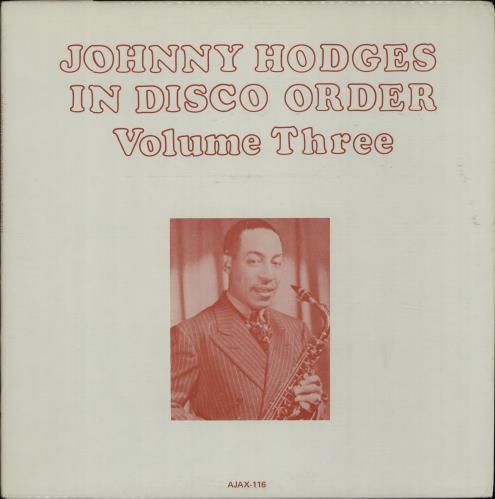 Johnny Hodges In Disco Order - Volumes 1 - 4 4-LP vinyl album set (4 records) US JAT4LIN669389