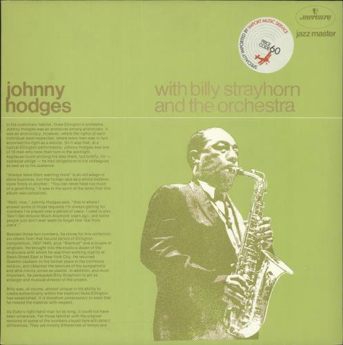 Johnny Hodges Johnny Hodges With Billy Strayhorn And The Orchestra vinyl LP album (LP record) Dutch JATLPJO724241