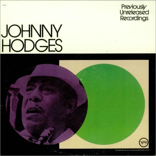 Johnny Hodges Previously Unreleased Recordings vinyl LP album (LP record) US JATLPPR448338