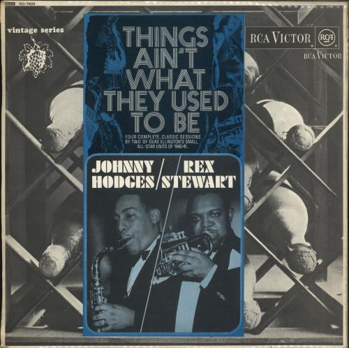 Johnny Hodges Things Ain't What They Used To Be vinyl LP album (LP record) UK JATLPTH445378
