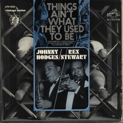 Johnny Hodges Things Ain't What They Used To Be vinyl LP album (LP record) US JATLPTH708908
