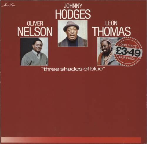 Johnny Hodges Three Shades Of Blue vinyl LP album (LP record) German JATLPTH651489