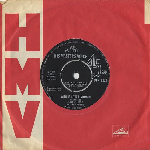 "Johnny Kidd & The Pirates Whole Lotta Woman 7"" vinyl single (7 inch record) UK KDD07WH491408"