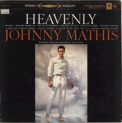 Johnny Mathis Heavenly vinyl LP album (LP record) US J-MLPHE714707