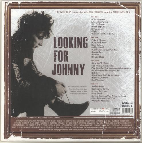 Johnny Thunders & The Heartbreakers Looking For Johnny (Original Soundtrack) - Red Vinyl + Numbered Sleeve 2-LP vinyl record set (Double Album) UK JTH2LLO704395