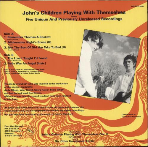 John's Children Playing With Themselves Vol. II vinyl LP album (LP record) German JHCLPPL731253