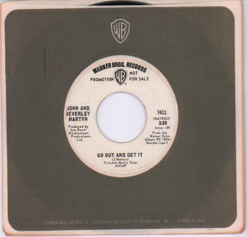 "John & Beverley Martyn Go Out And Get It 7"" vinyl single (7 inch record) US J3L07GO679686"
