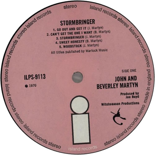 John & Beverley Martyn Stormbringer! - 1st - EX vinyl LP album (LP record) UK J3LLPST612373