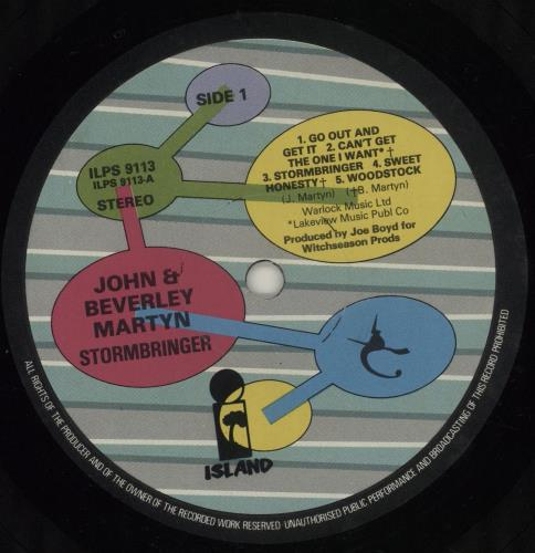 John & Beverley Martyn Stormbringer! - 4th vinyl LP album (LP record) UK J3LLPST679477