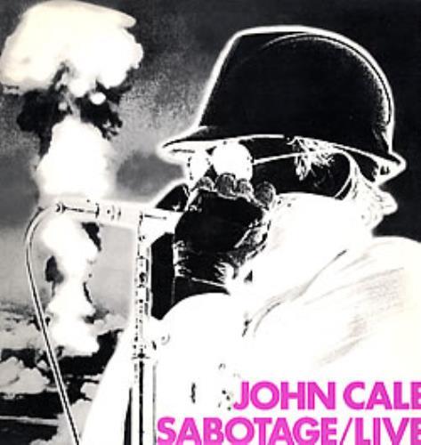 John Cale Sabotage/Live - Gold promo stamped US vinyl LP