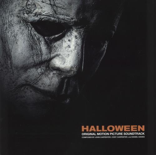 John Carpenter Halloween - Orange and Black Starburst vinyl LP album (LP record) US JZVLPHA728007