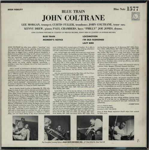John Coltrane Blue Train - West 63rd vinyl LP album (LP record) US JCOLPBL605745