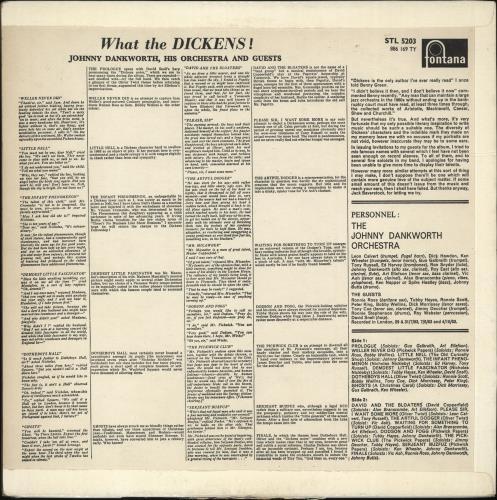 John Dankworth What The Dickens vinyl LP album (LP record) UK JKULPWH447893