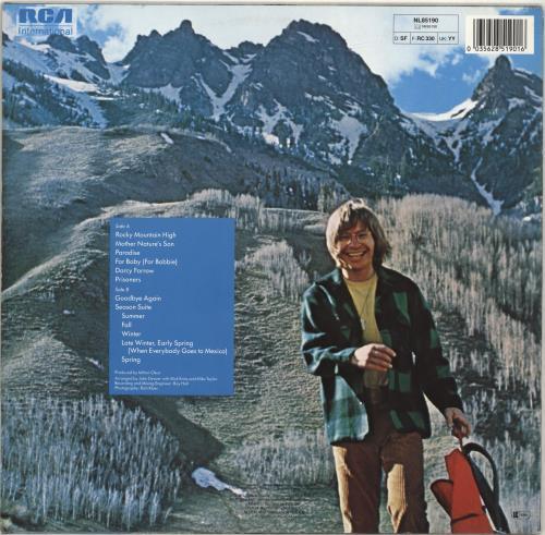 John Denver Rocky Mountain High German Vinyl LP Album (LP